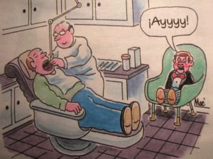 Paciente en el sillón dental